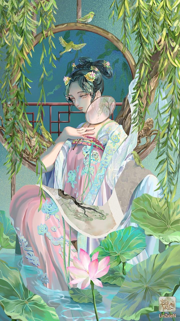 夏蓮 Illust of 凜紙械恩 古裝 girl original