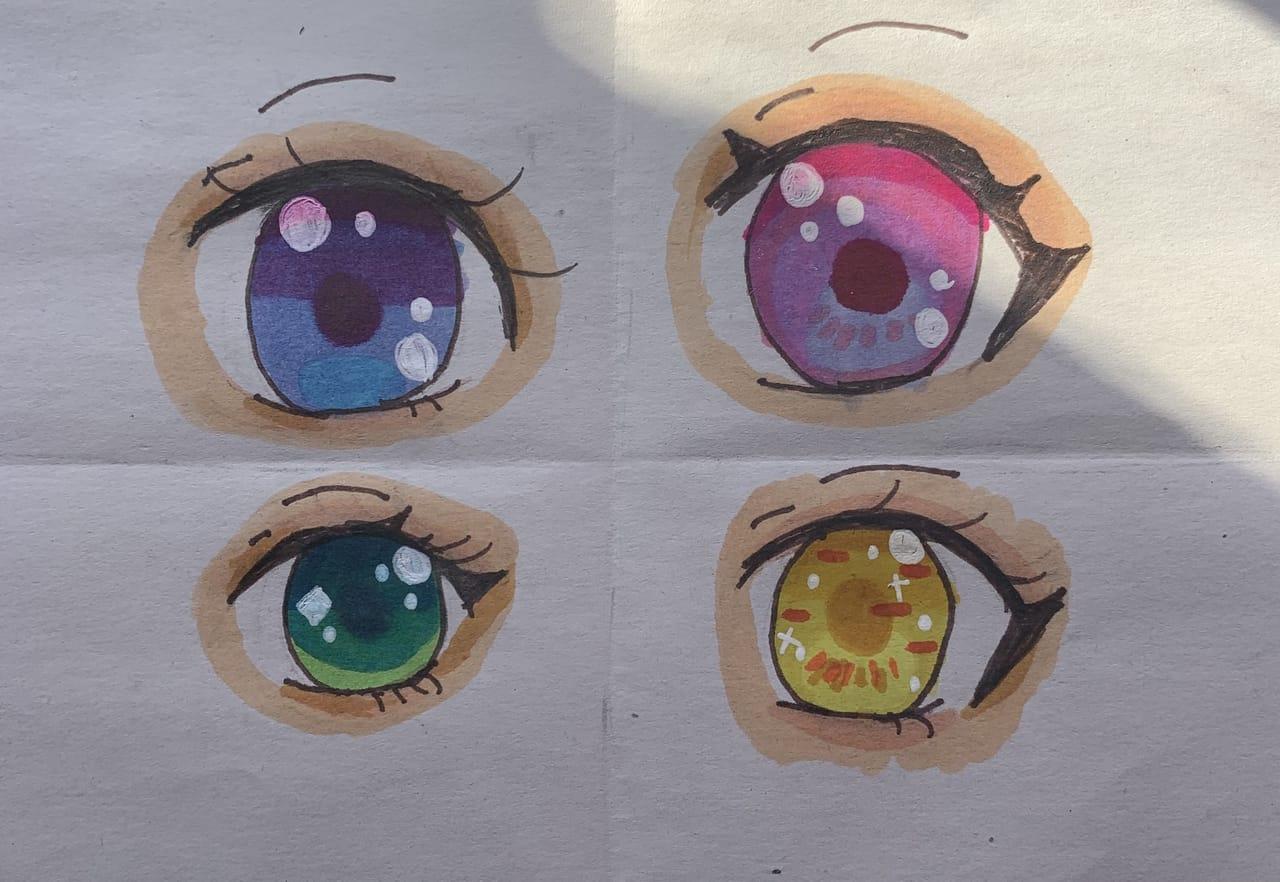 Eye colors Illust of {Bobà Leàf}🌿 eyes cute sketchbook medibangpaint ohuhu