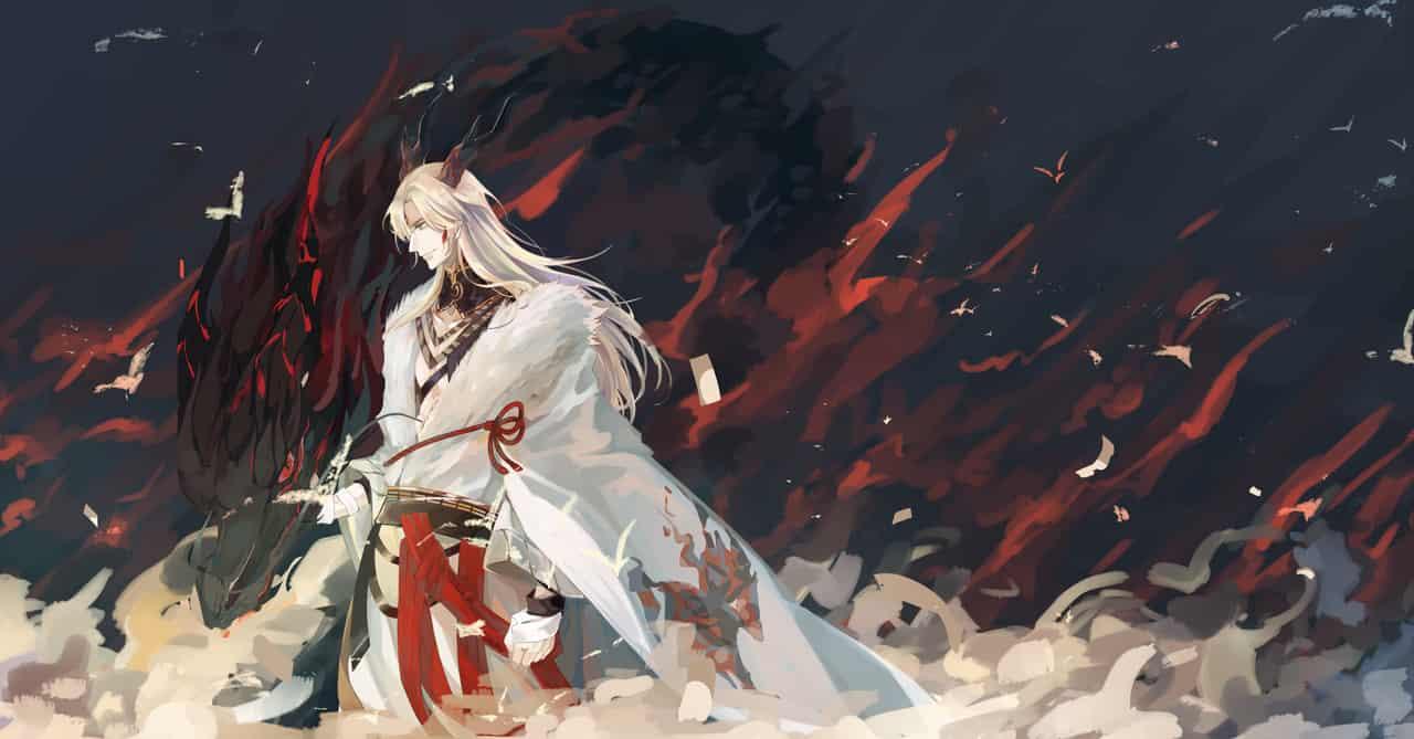 苍连 Illust of 渊目律 sketch drawing 一目连 Onmyouji illustration Onmyoji