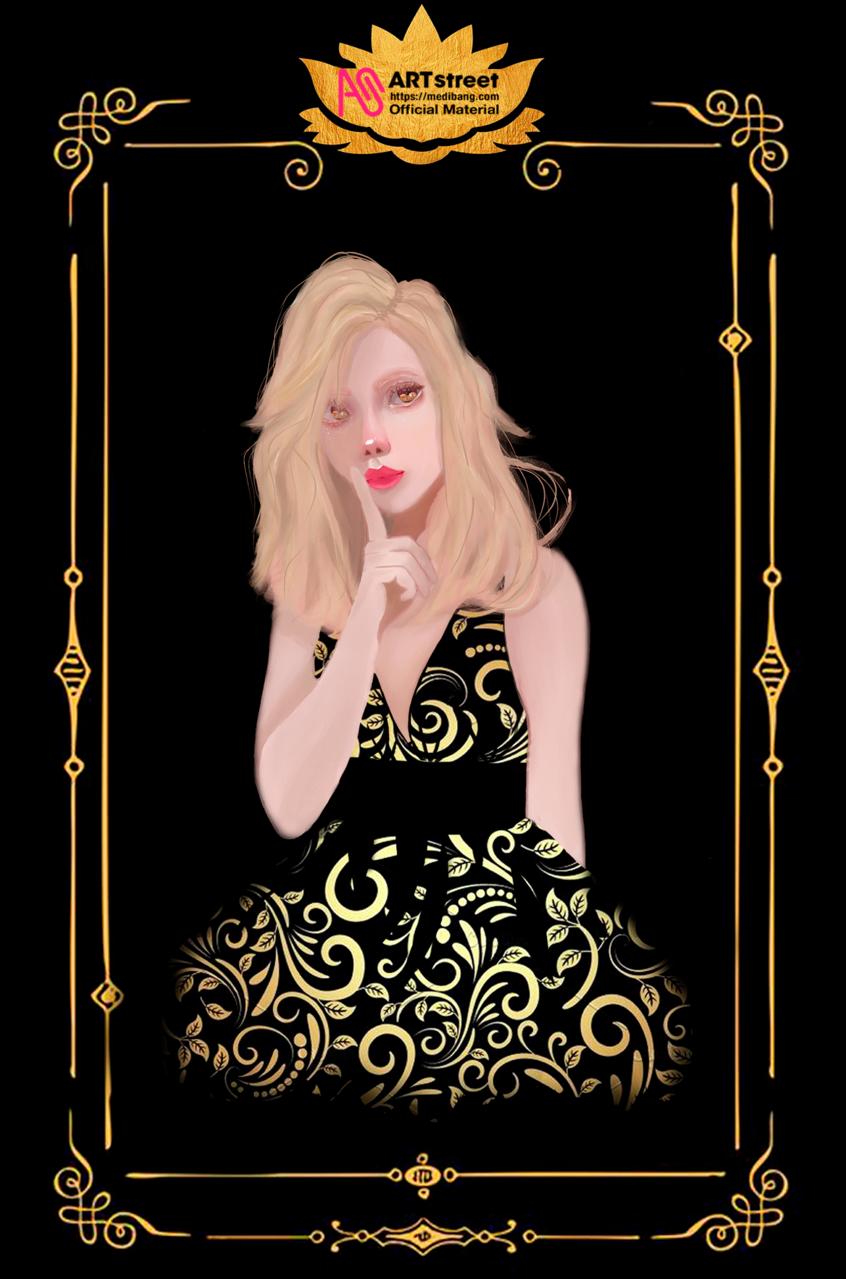 Dollian Illust of Foxvon tracedrawing4th realistic illustration card girls originalart
