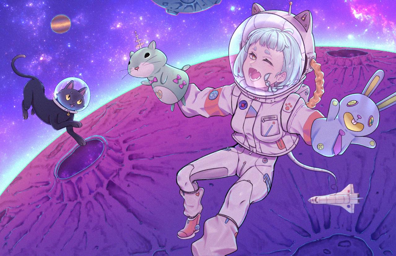 Galaxy Illust of 七匕 January2021_Contest:OC 宇宙飛行士 oc galaxy