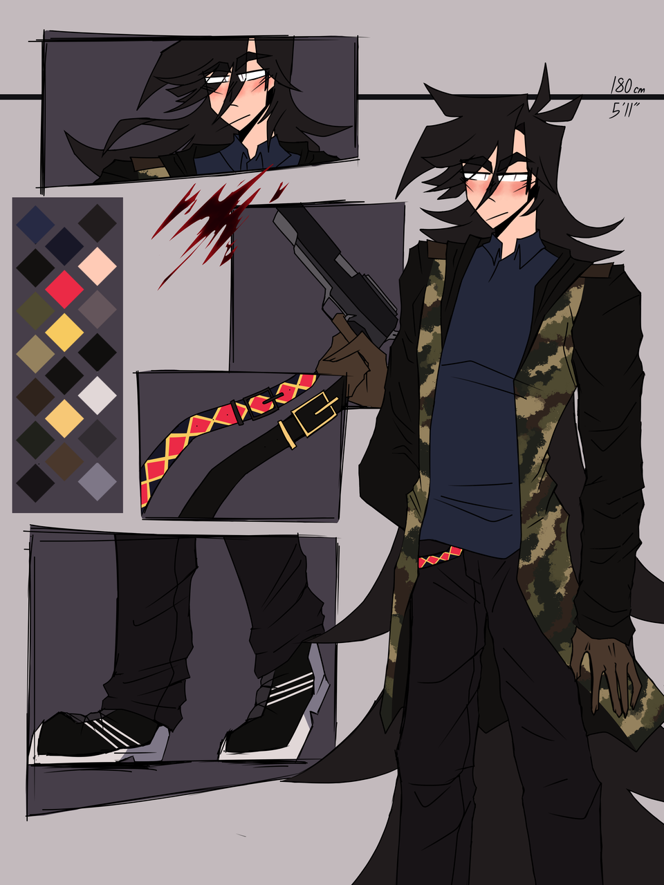 My not so cute and professionally detailed persona Illust of Hryhør1y