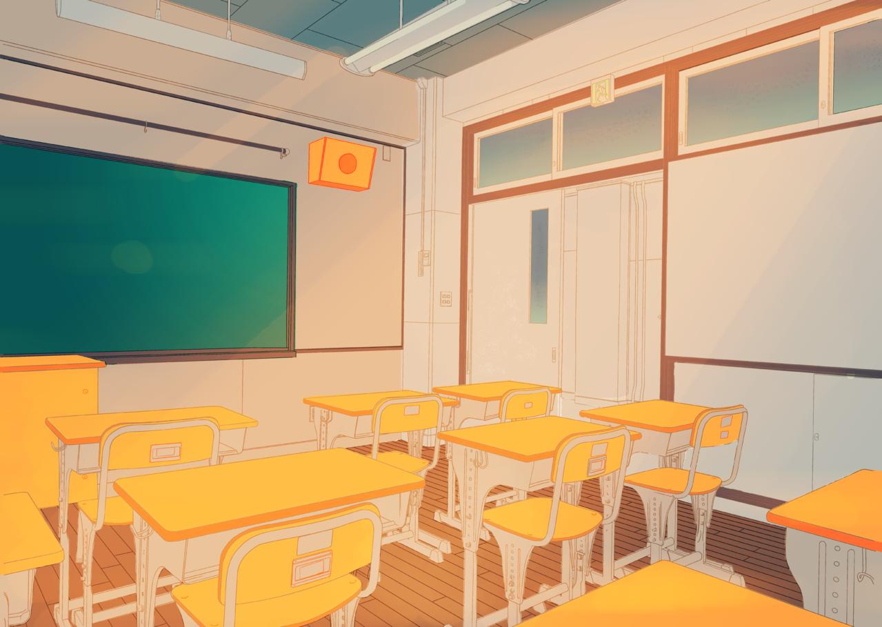normal classroom_2 Illust of Alayo Background_Image_Contest BackgroundImageContest_Using_Division