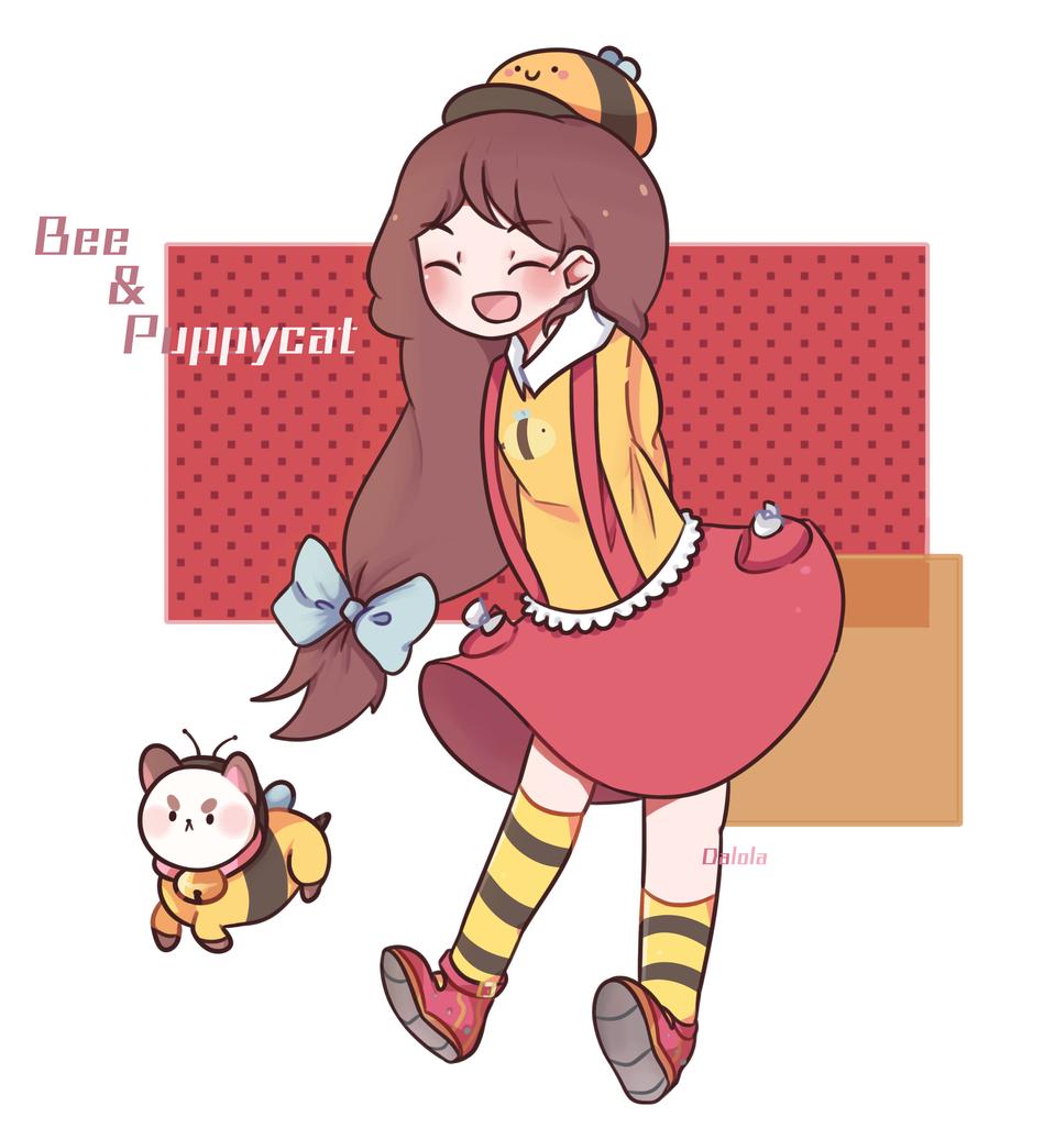 Bee & Puppycat Illust of Dalola medibangpaint BeeandPuppyCat girl