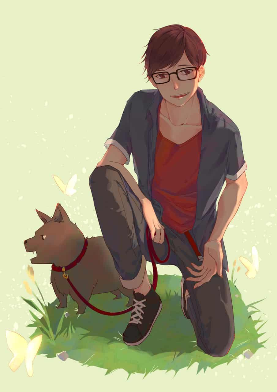 For her Illust of joyqul dog
