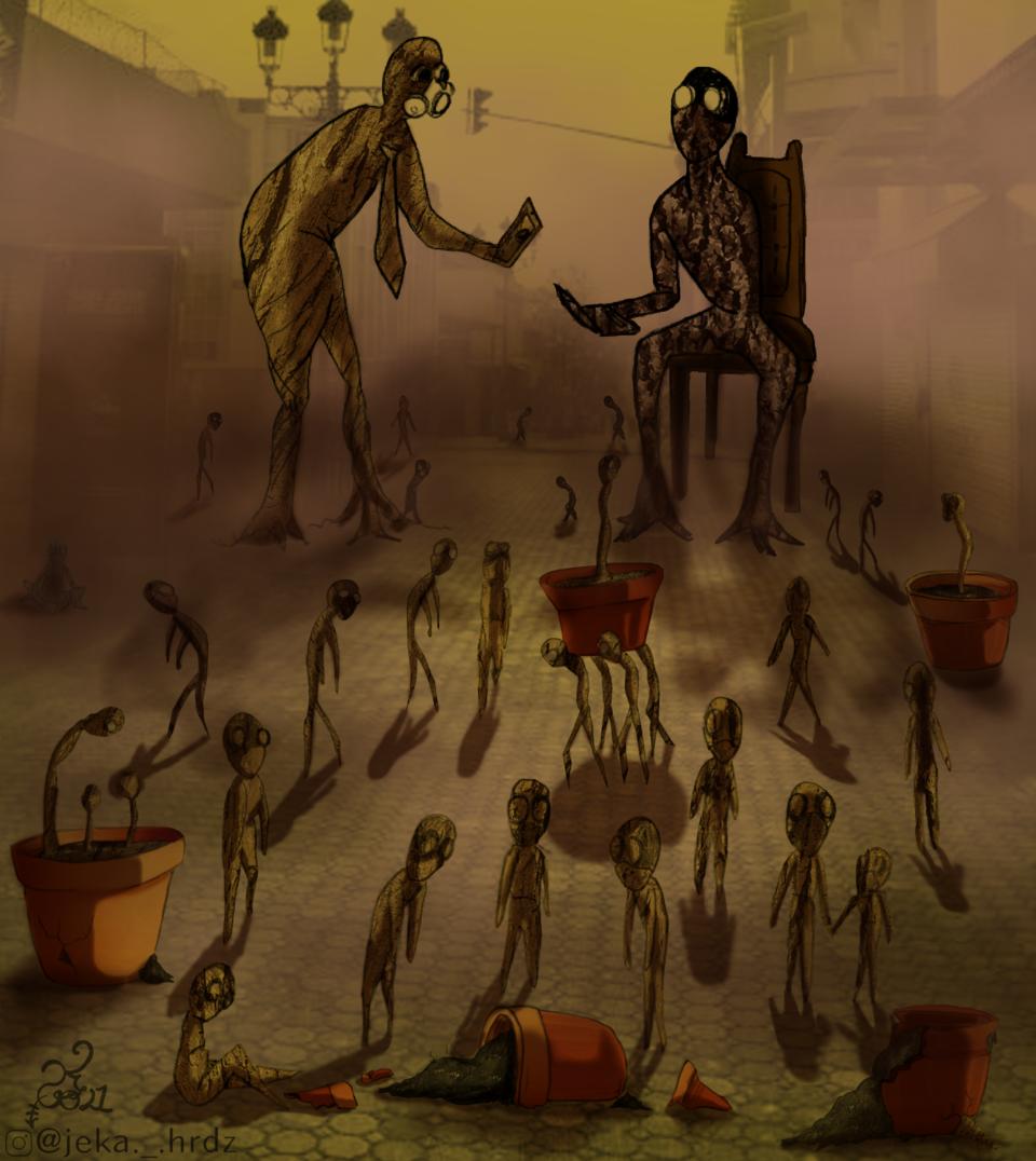 Raíces Frágiles Illust of ♡예카♡ February2021_Fantasy March2021_Creature MySecretSocietyContest digital illustration 마을 MyArt 조직한 Artwork medibangpaint Emo Society Secret