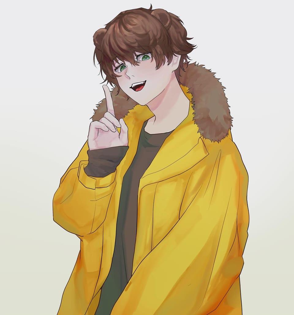 静かにね Illust of makityann June2021_Anthropomorphism 創作男子 original 熊