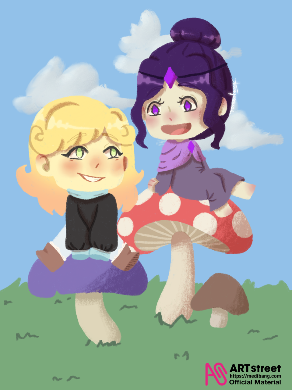 mushroom gorls v2  Illust of AnonymouseSaysHoooi tracedrawing4th Trace&Draw【Official】 mushrooms adopted