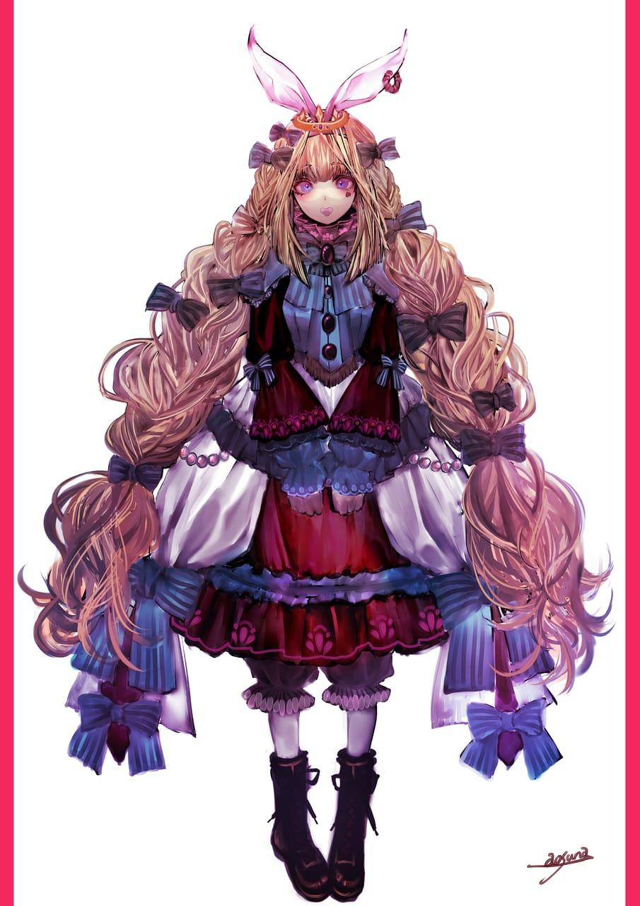 ハートのお口 Illust of 青砂時計 January2021_Contest:OC oc girl ribbon original