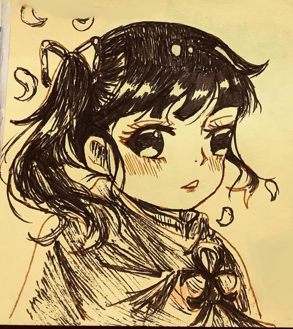 🌸 Illust of 茶茶 May2021_Monochrome