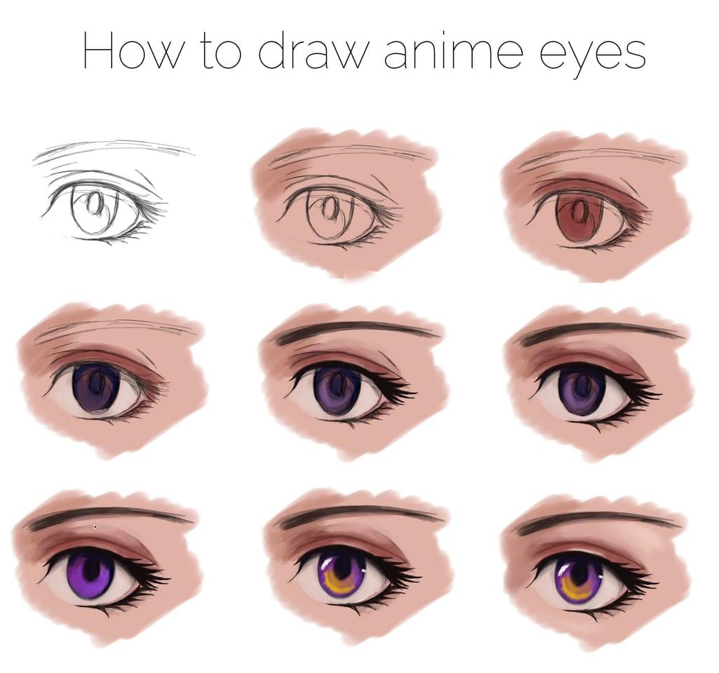 How to draw anime eyes Illust of asteltainn tutorial eyes