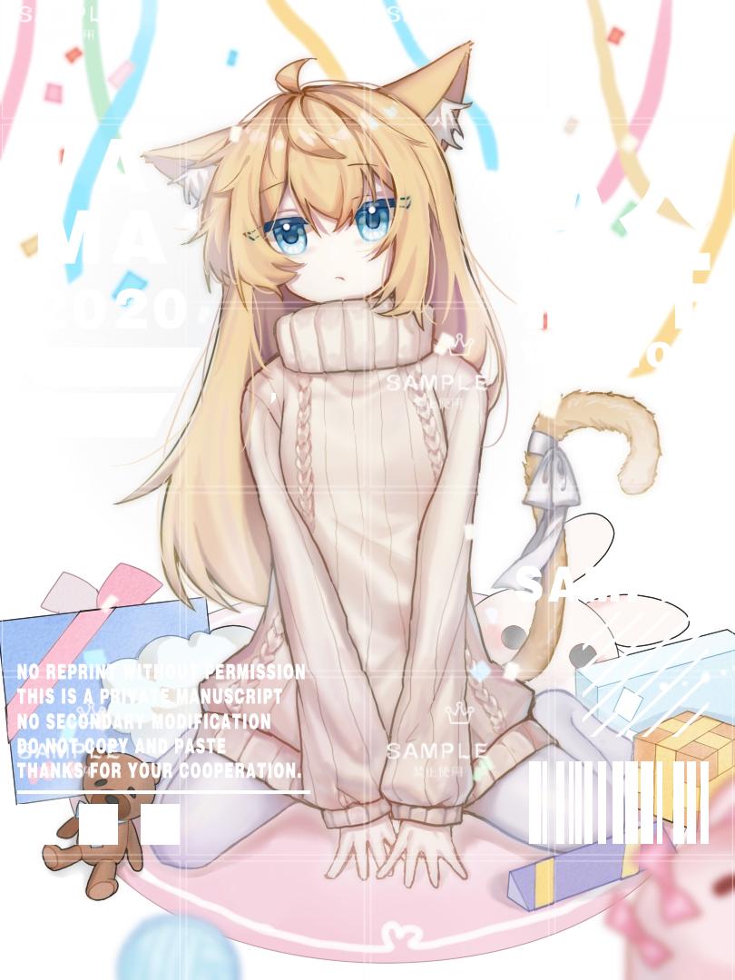 Illust of gaoin medibangpaint animal_ears girl ニット