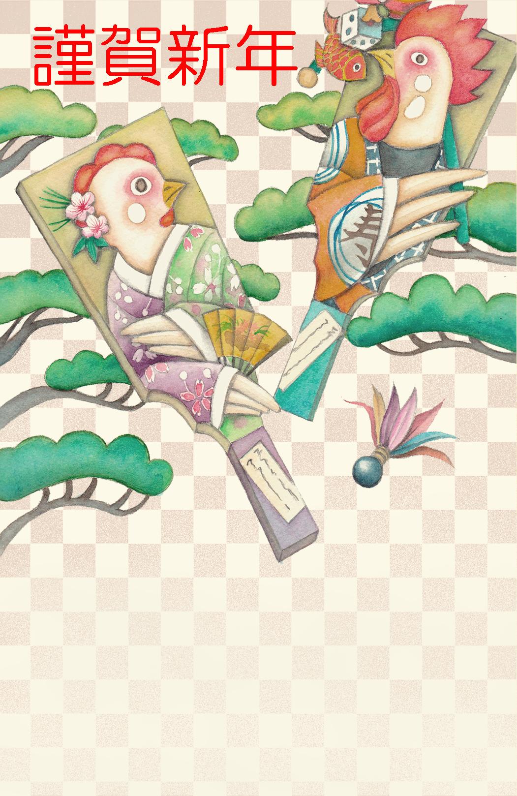yayoi/年賀状コンペ用イラストスタンダード