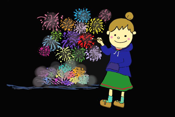 花火大会 Illust of すんこ Original_Illustration_Contest 花火大会 絵を描くって楽しい 夏の思い出
