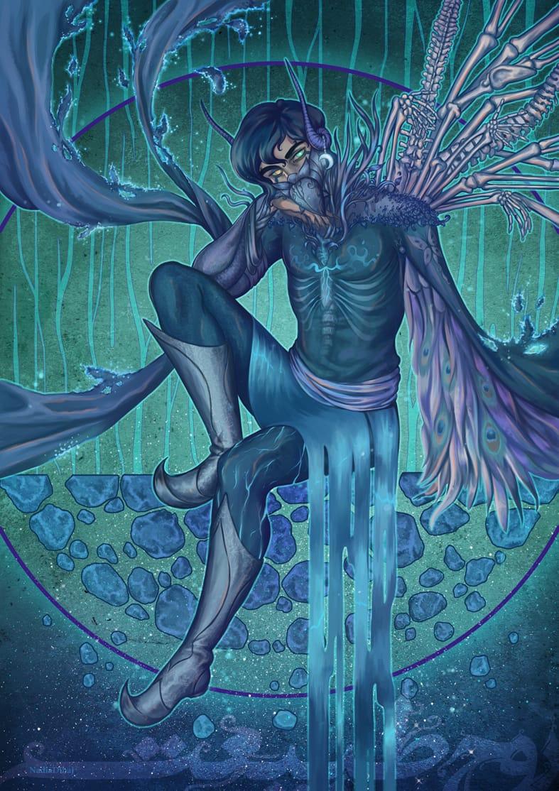 Spirit of nature Illust of nadiadibaj February2021_Fantasy January2021_Contest:OC digitaldrawing illustration characterart characterdesign design anime persian Artwork