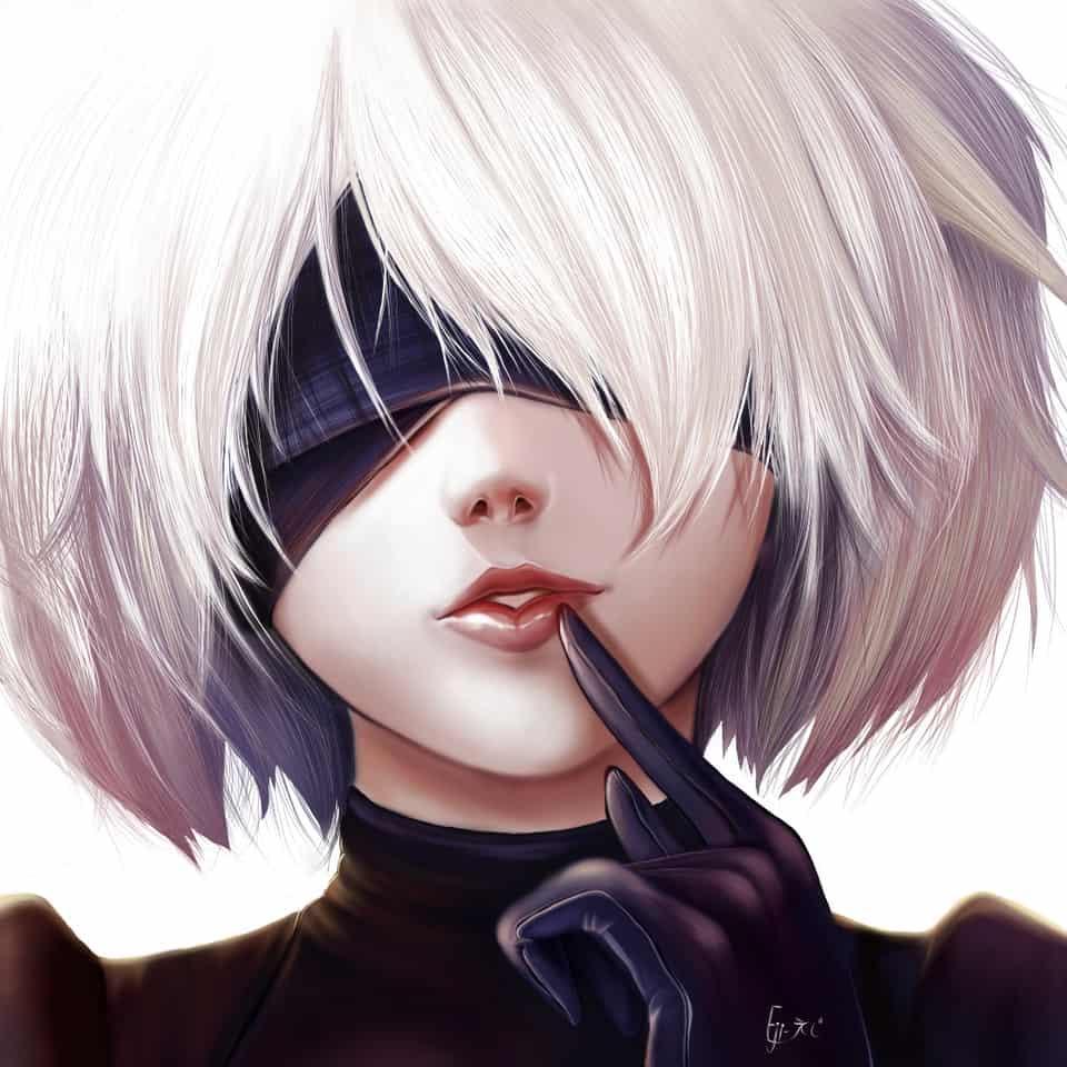2B Nier automata  Illust of Yuki #medibang girl #yuki NieR:Automata #kawaii fanart NieR: #game