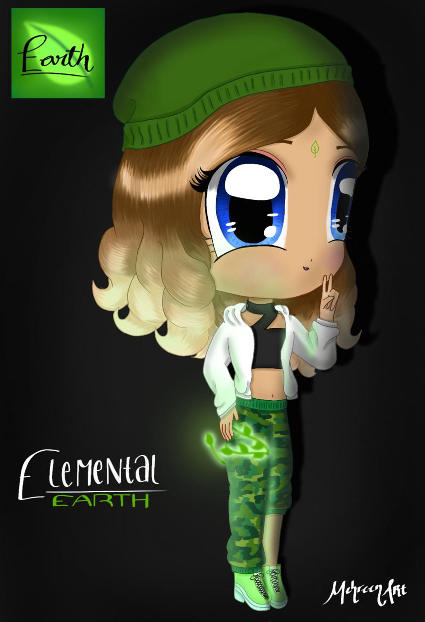 Earth Illust of MehreenArt Earth girl Elements green