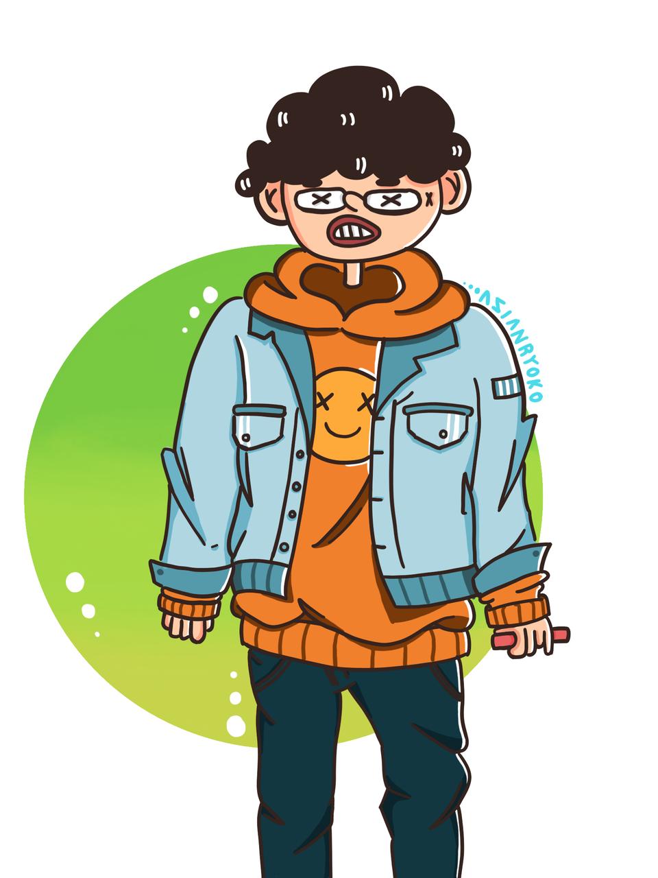 New Character for Doodle Illust of AsianRyoko medibangpaint doodle medibang art