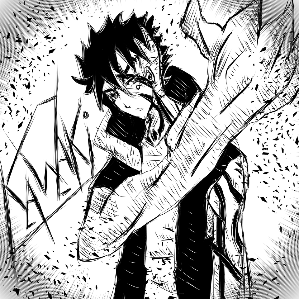 kawaki manga version  Illust of AcP May2021_Monochrome