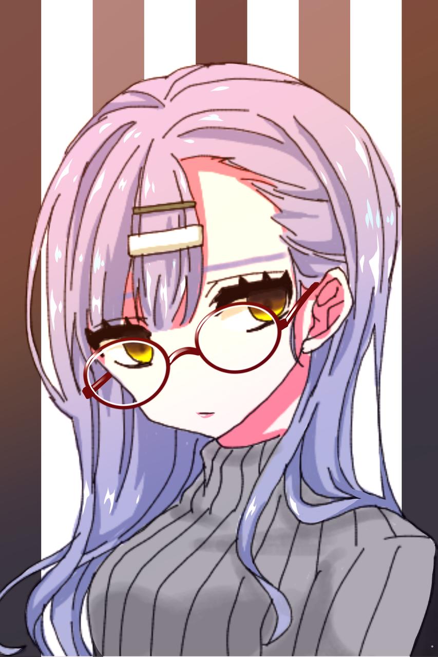 眼鏡ちゃん Illust of ゆた medibangpaint ニット glasses レッツワンドロ レッツワンドロフライデー