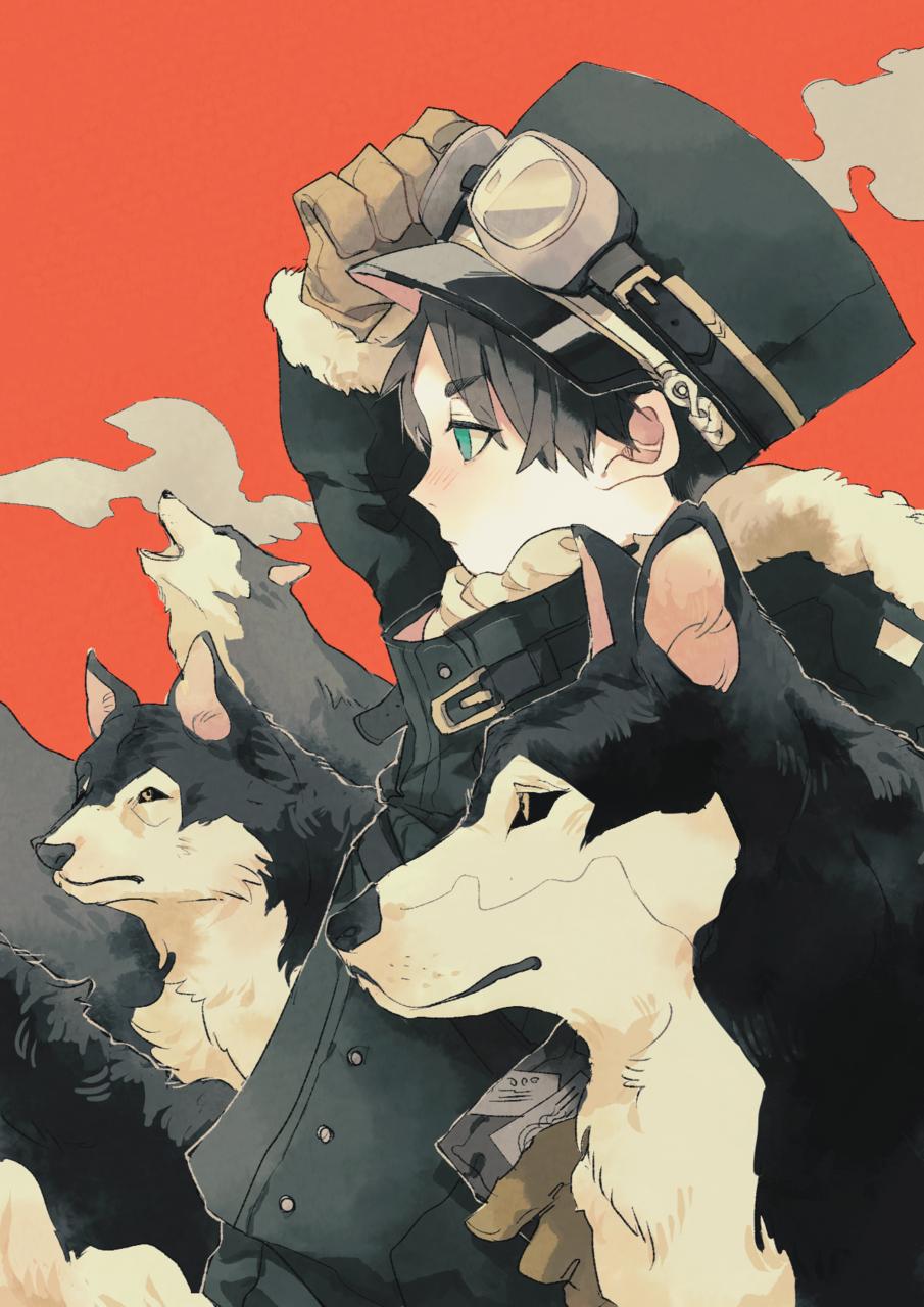 配達員 Illust of ひがしの original dog Husky イラストレーション ゴーグル boy