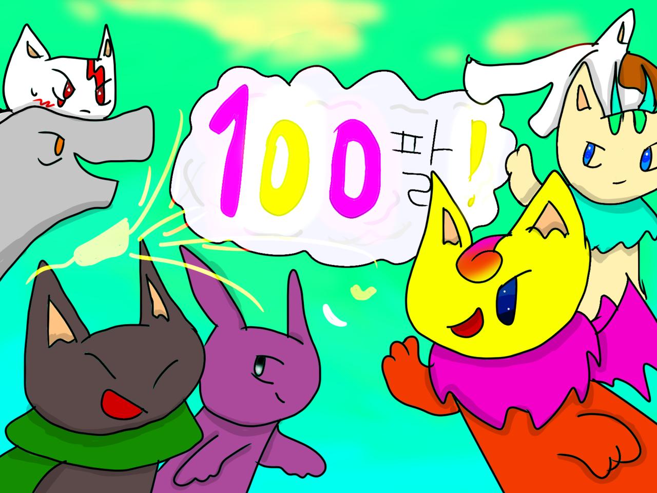 100팔 감사합니다!!Thanks for 100 follows!! Illust of ºDark_멜리♥ 감사합니다 medibangpaint 100팔로워 oc 멜리