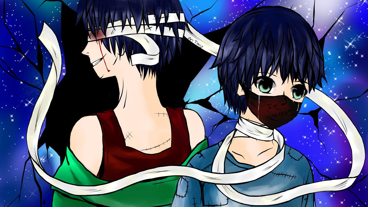 I'm Scream Illust of Ari Tsuji galaxy anime medibangpaint