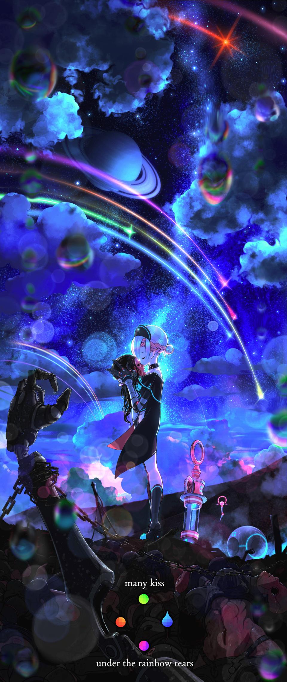 【日常:コロン・セミコロン】メニキス Illust of Tow Tateoka 2ndHikarikoContest star space vampire :;