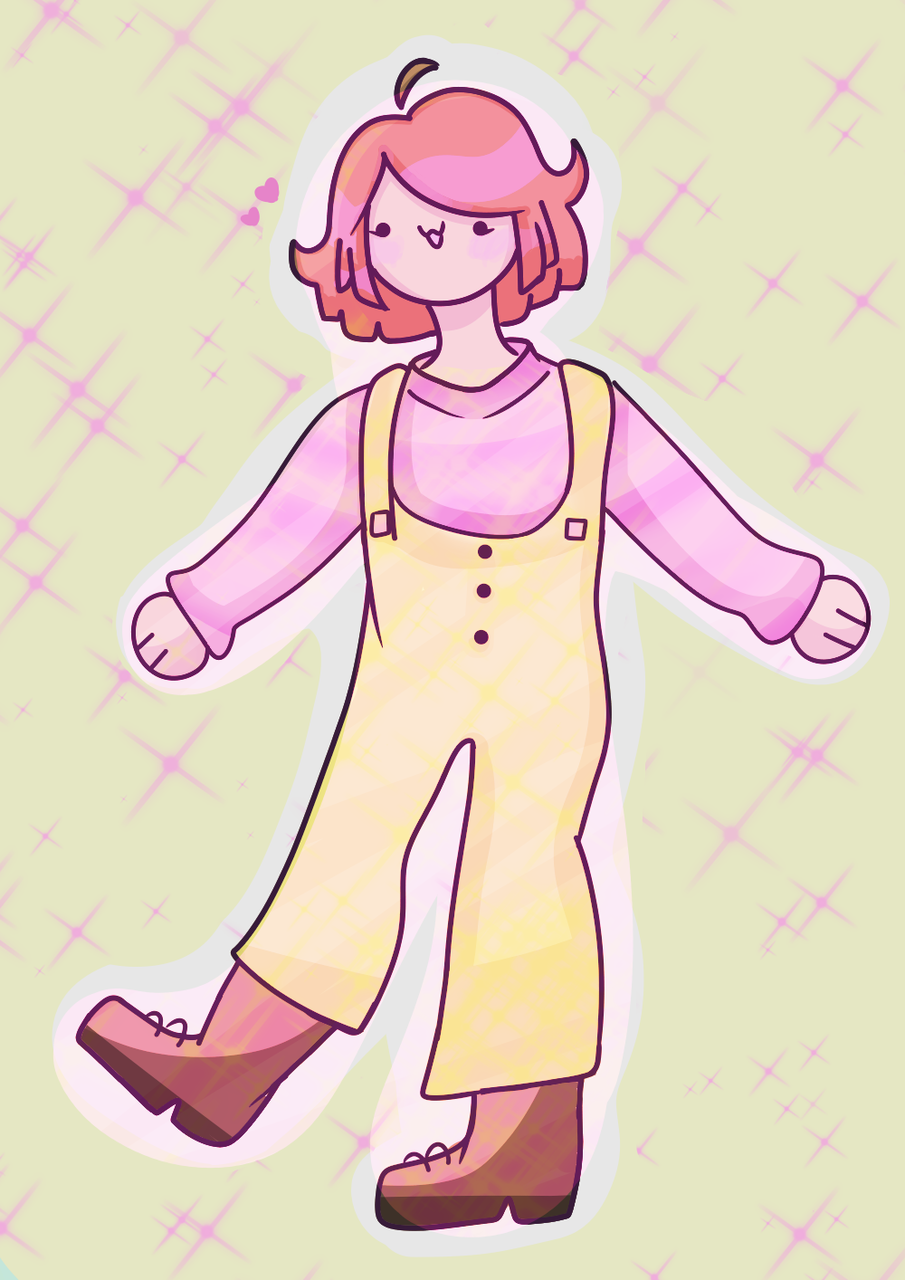 :33 Illust of Paper medibangpaint pink boots yellow cute Wholesome :3