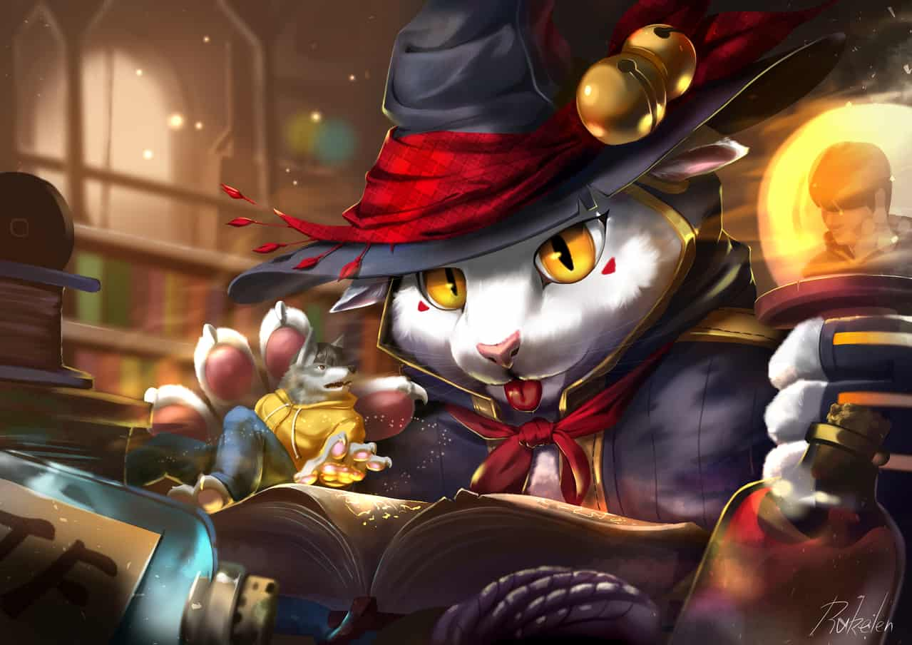 A wicked mage cat Illust of Rukelen September2020_Contest:Furry transfur cat tf furry