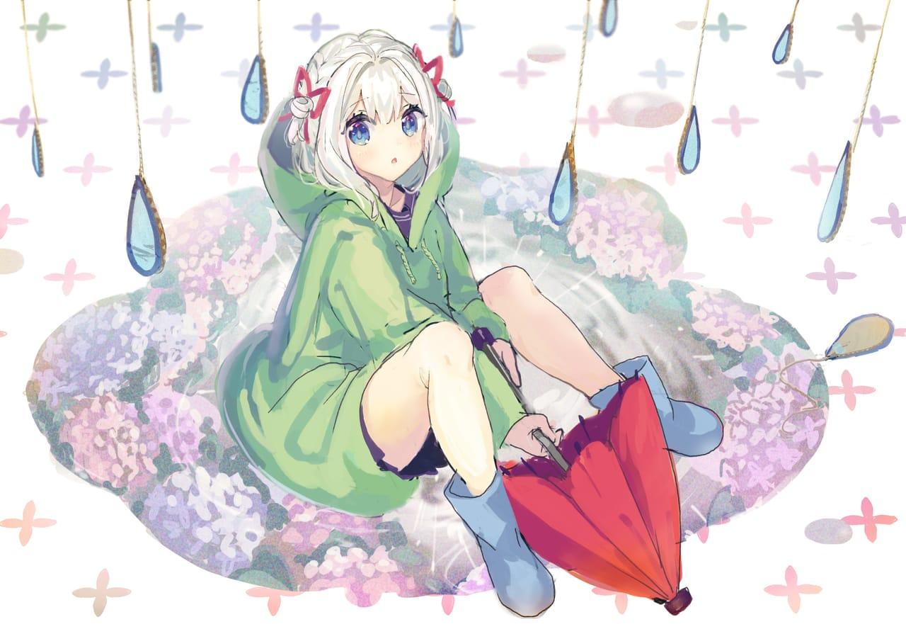 梅雨の女の子 Illust of もぐらもぐもぐ hydrangea girl レインコート original