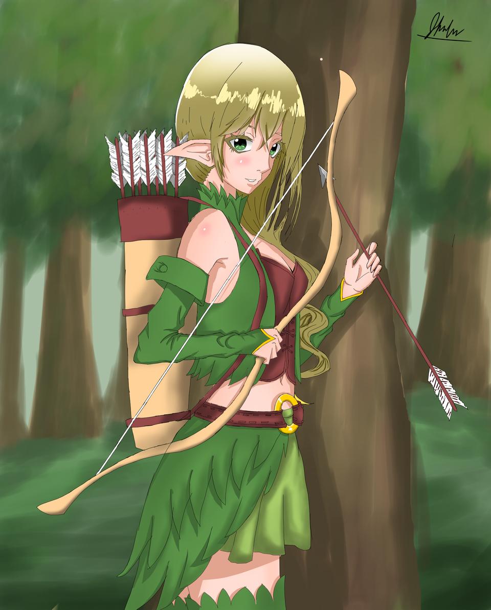Anime Wood Elf