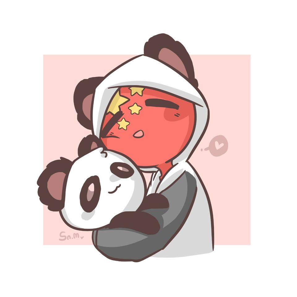 panda!☆ Illust of 时迈。☆ medibangpaint