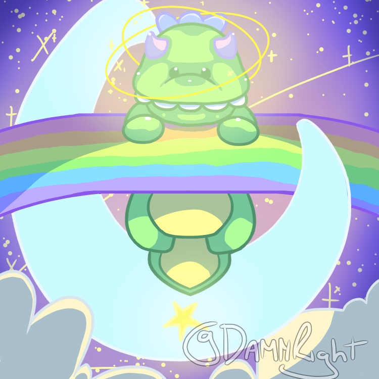 Philip, My Boy :) Illust of Damn Ram medibangpaint kawaii space rainbow Dinosaur