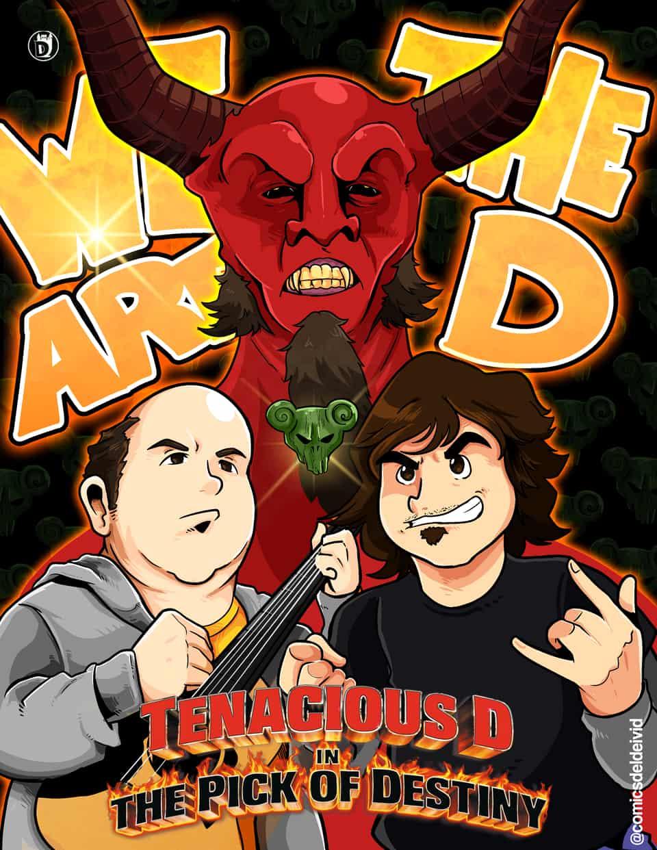 Tenacious D Poster Illust of DCastlee tenaciousD devil kylegass tenacious destiny jackblack