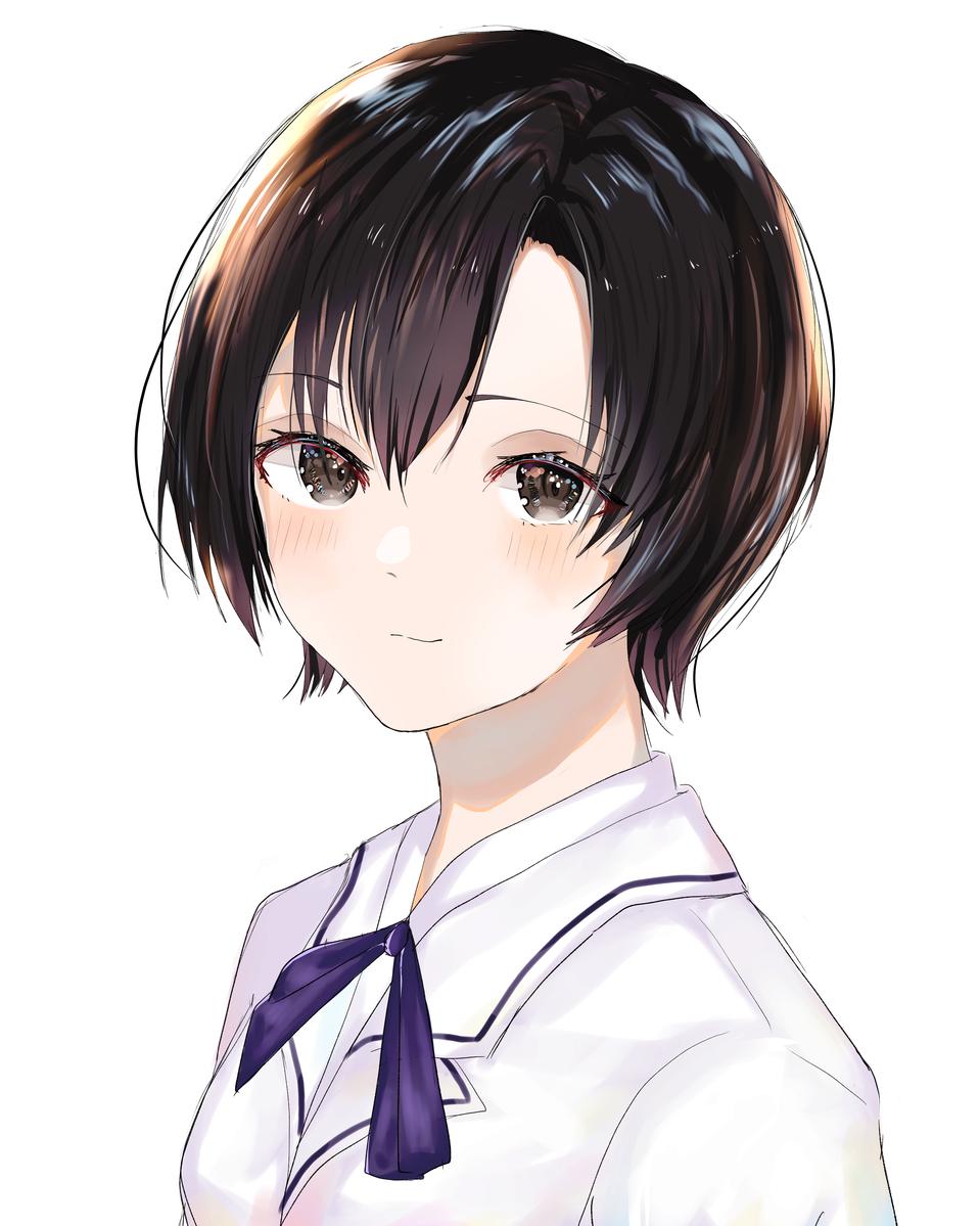 紫 Illust of Lutz medibangpaint fanfic 殻ノ少女 おんなのこ uniform ショートヘア