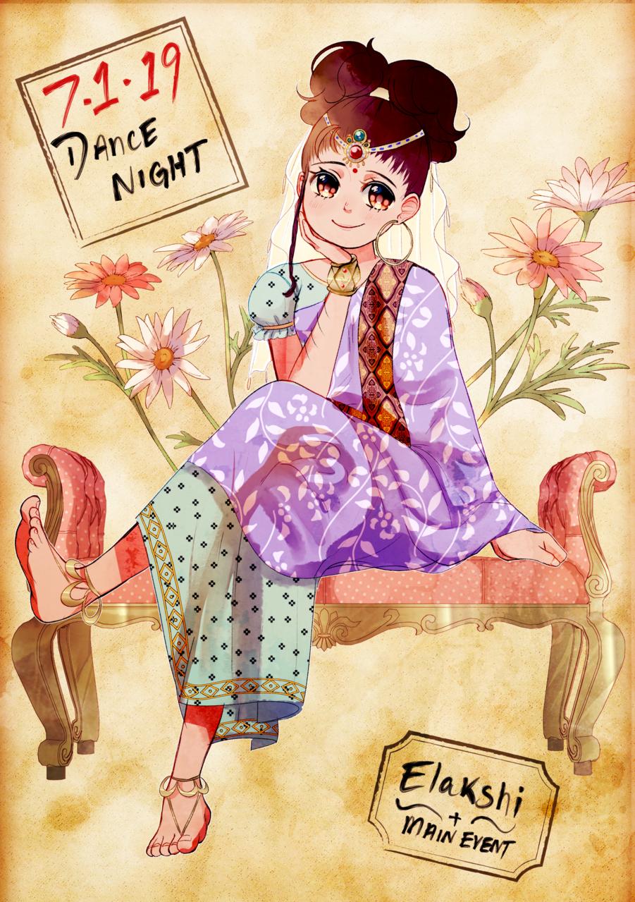 Elakshi-Dancer's Attire