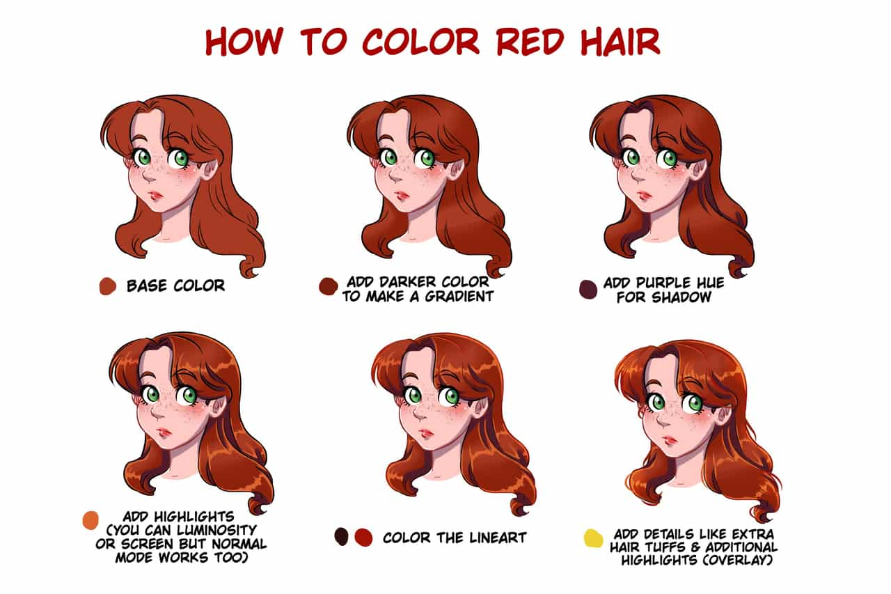 How To Color Red Hair MBPtutcontest