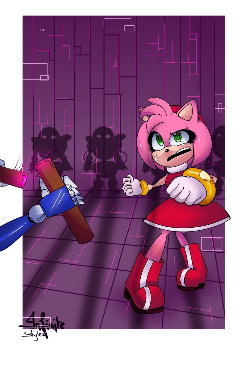 NooO  :( Illust of Infinite stylez medibangpaint sega metalsonic sonicstyle Sonic amy infinitestylez sonicfanart amyrose