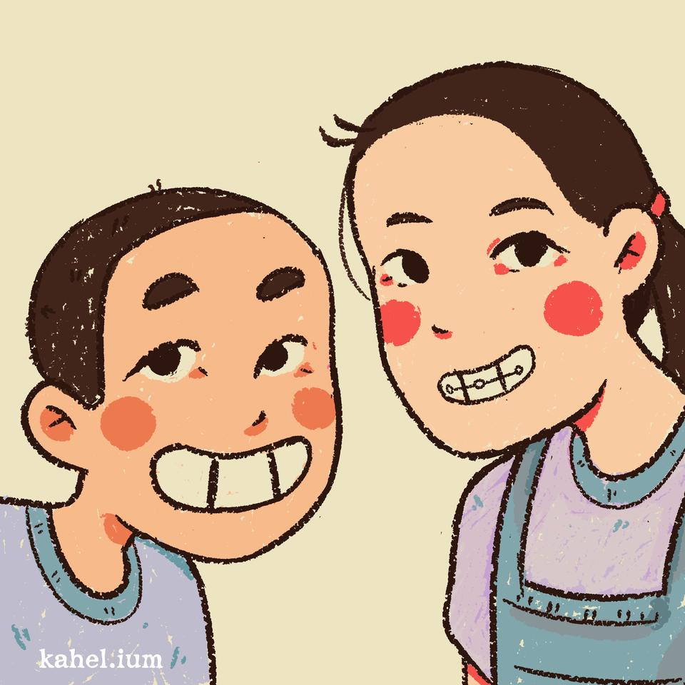 Peep Illust of Kahelium iPad_raffle cute medibangpaint