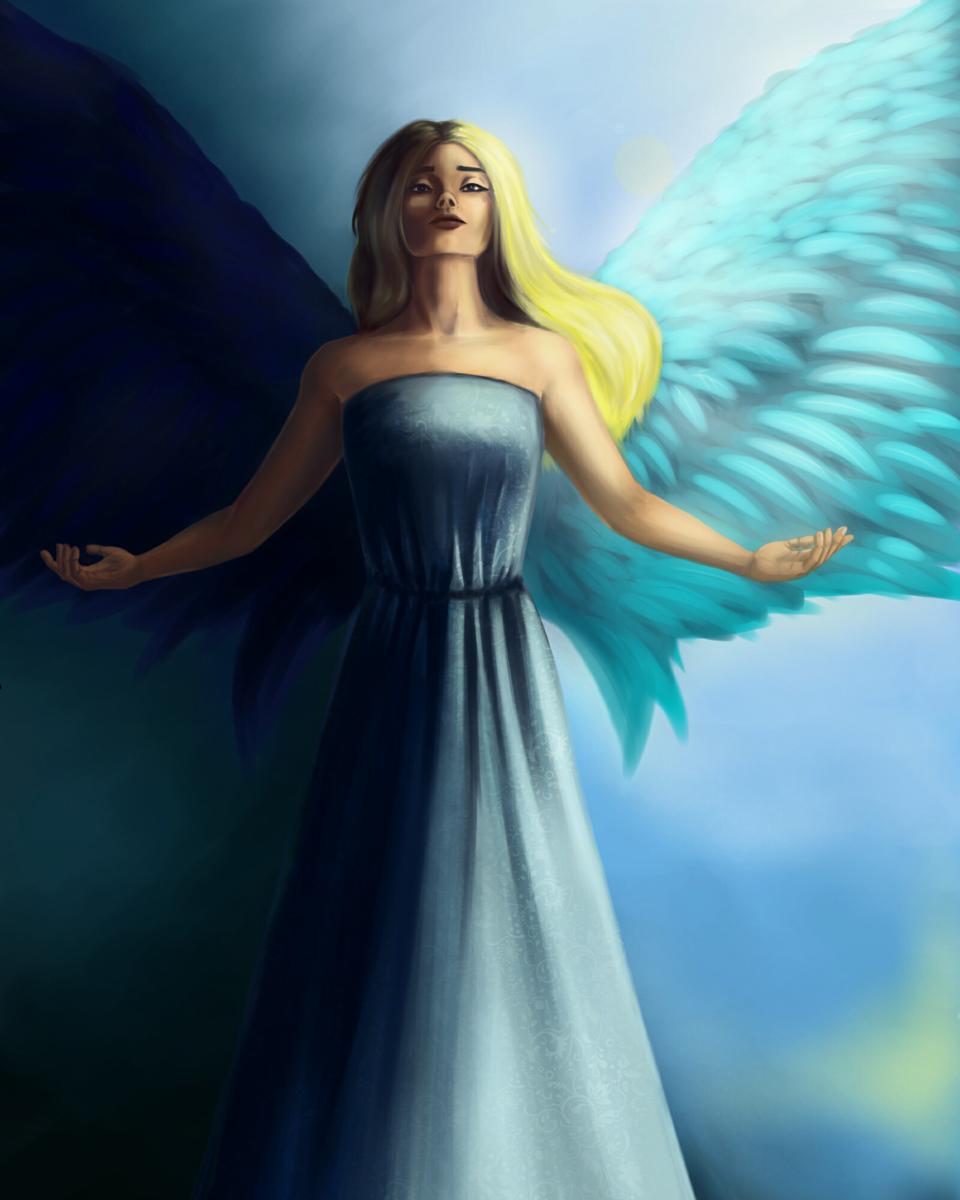 angel Illust of Lema-lisa fantasy medibangpaint art angel fantasyart