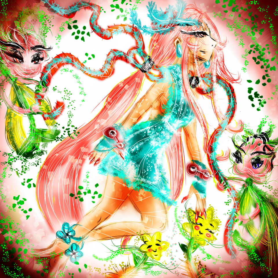 Spring Witchy Illust of AcP pinkhair