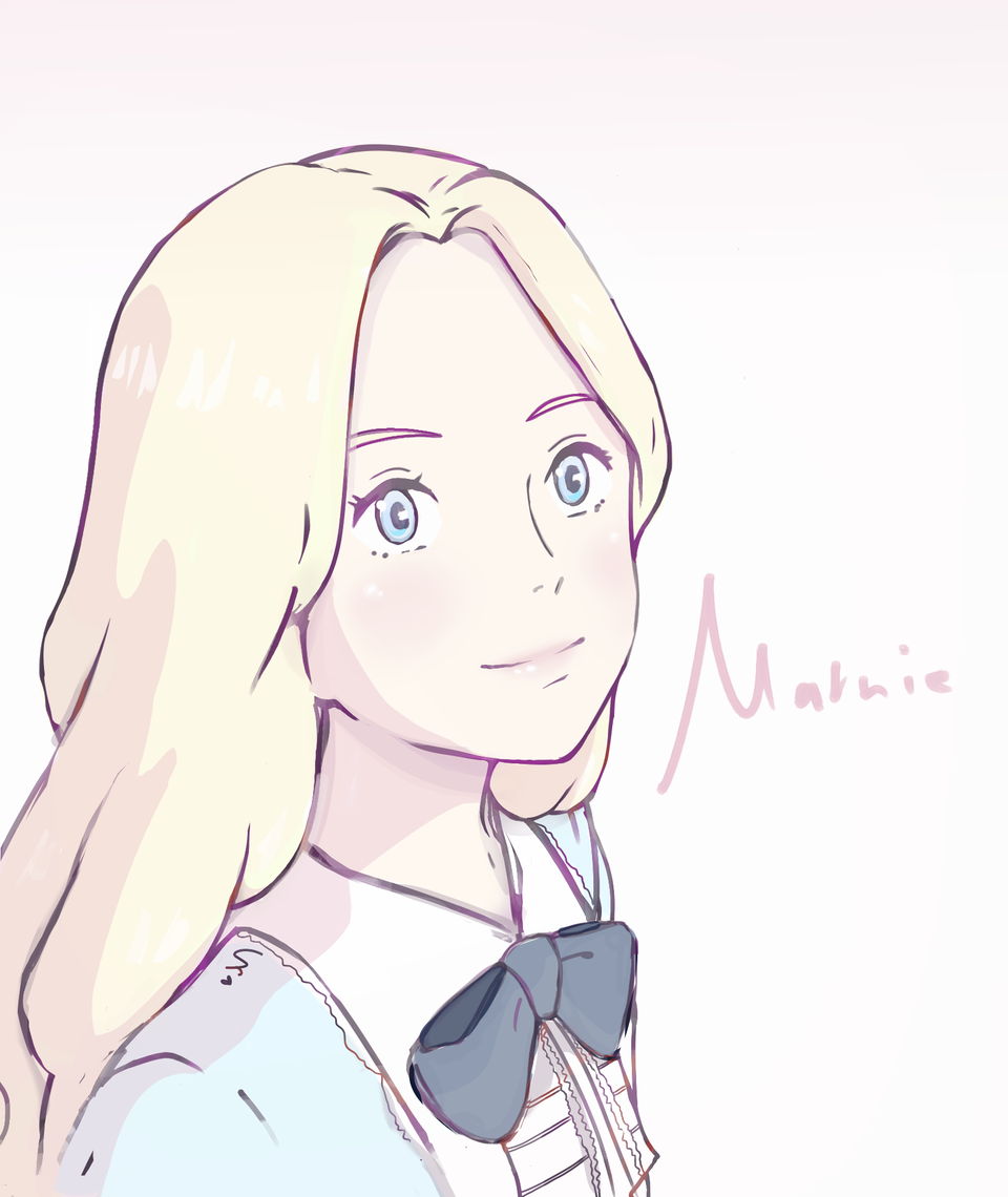 When Marnie Was There ~ Illust of k.アートII illustration whenmarniewasthere girl color art pink GHIBLI Marnie medibangpaint sketch
