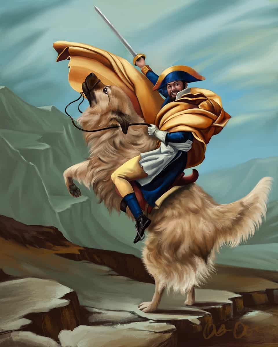 Napoleon Bonapawte Illust of OliviaO DOGvsCAT_DOG