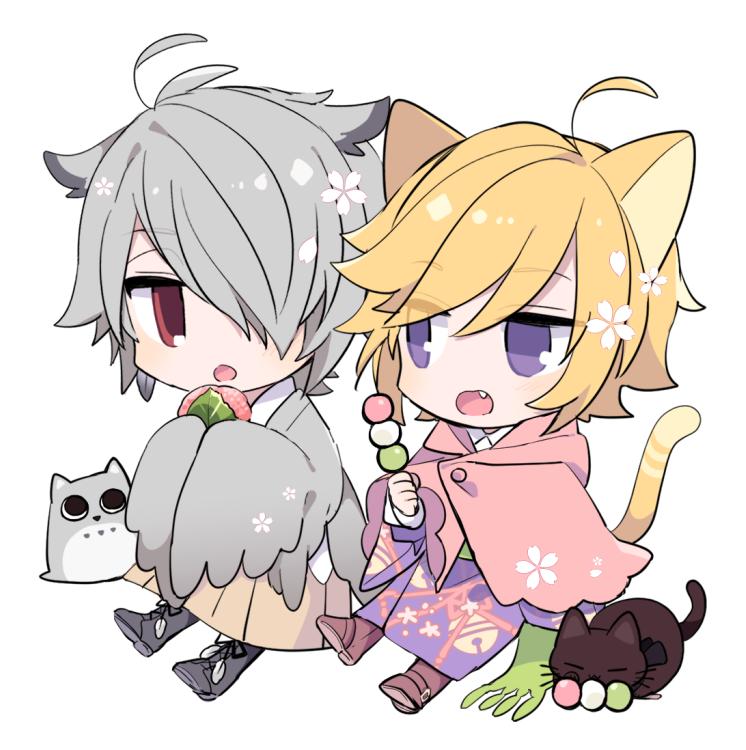 ミミズクとねこ Illust of 由杞 cat_ears デフォルメ original ケモミミ