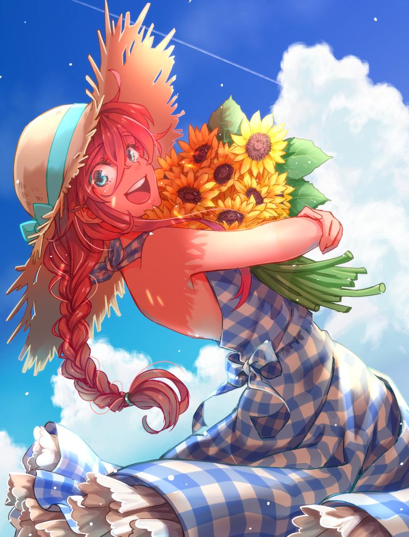 夏の日 Illust of やすお original girl 向日葵 summer