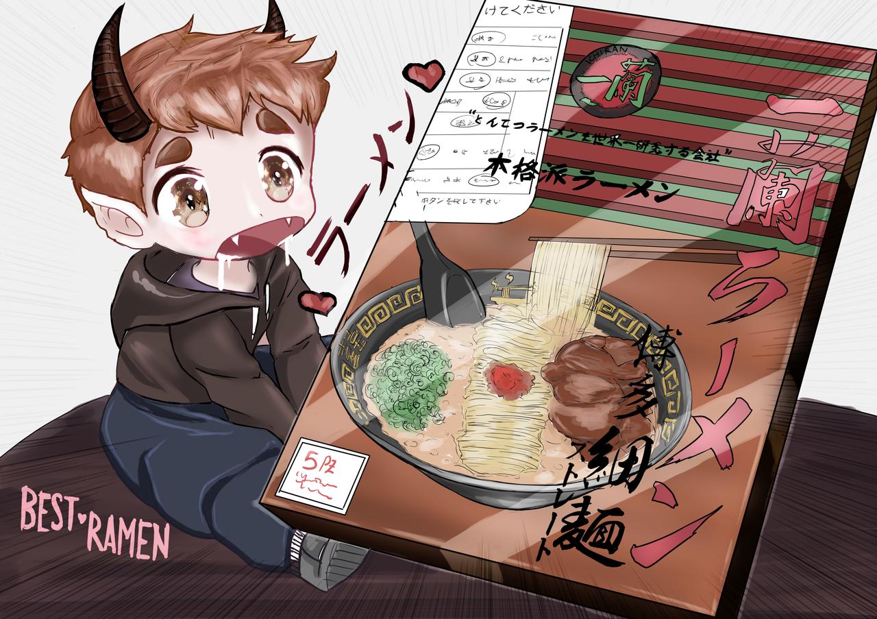 Ichiran Ramen いちらんらめん 2pcs Illust of Somachi MF96 giftyouwant2020:10000YenGift giftyouwant2020 Christmas original Ramen food cute Ichiran gift