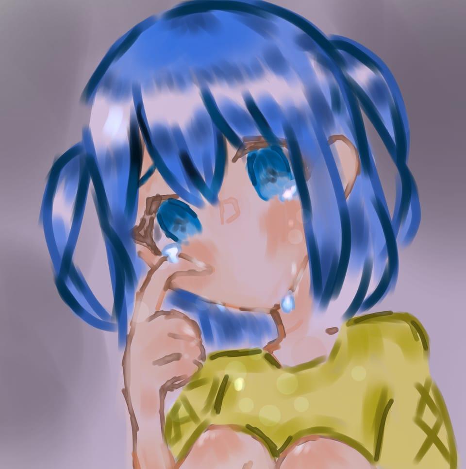 絶望 Illust of 兎爬ことり#アナログ同盟 青色 girl デジ絵