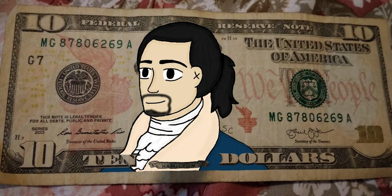 Alex on the 10 dollar bill - Starixa | Illustrations - ART