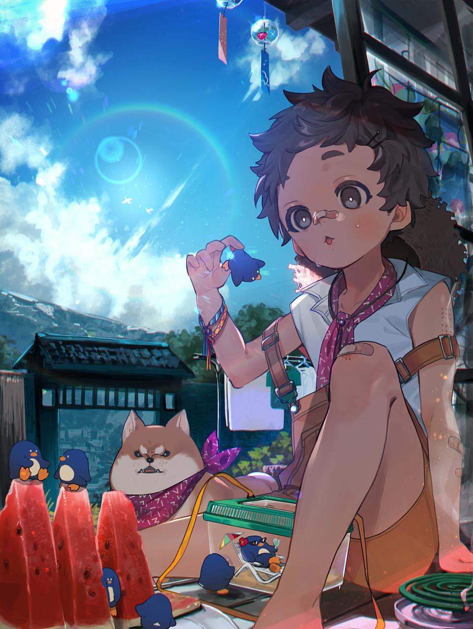 夏 Illust of 牛野こも boy summer original
